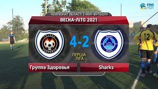 Обзор Группа Здоровья Sharks Перша ліга Чемпіонат області з міні футболу Весна Літо 2021