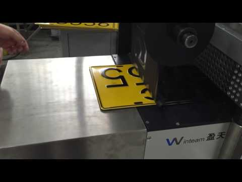 Automatic car license metal number plate stamping machine