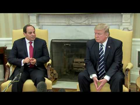 WATCH: President Donald Trump and Egyptian President Abdel Fattah el-Sisi In White House (FNN)