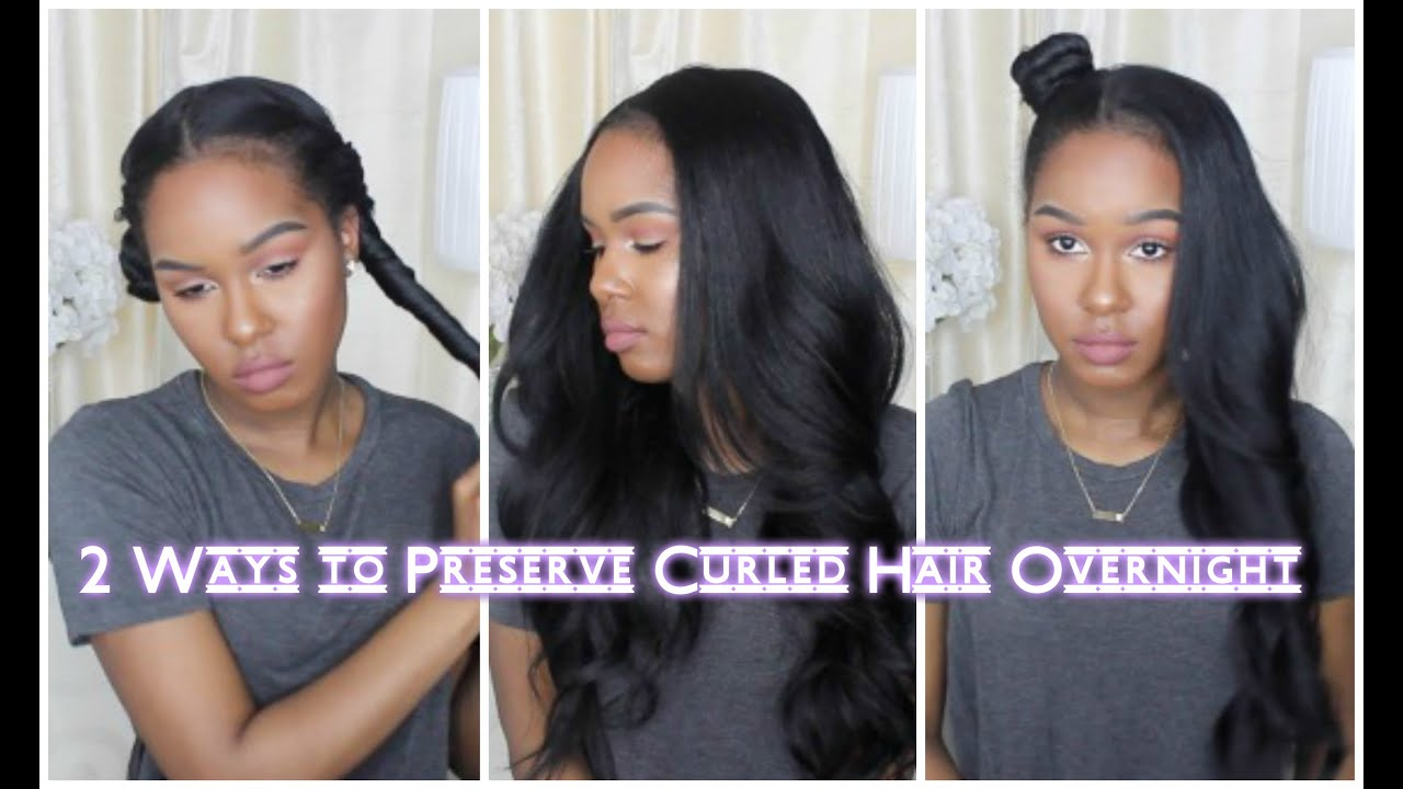 2 Ways To Preserve Curled Hair Overnight Youtube