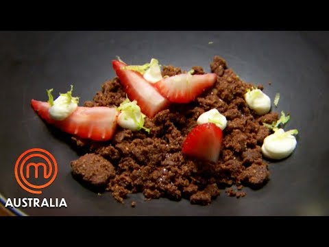Reynold Poernomo's Chocolate Crumble With Strawberries | MasterChef Australia | MasterChef World