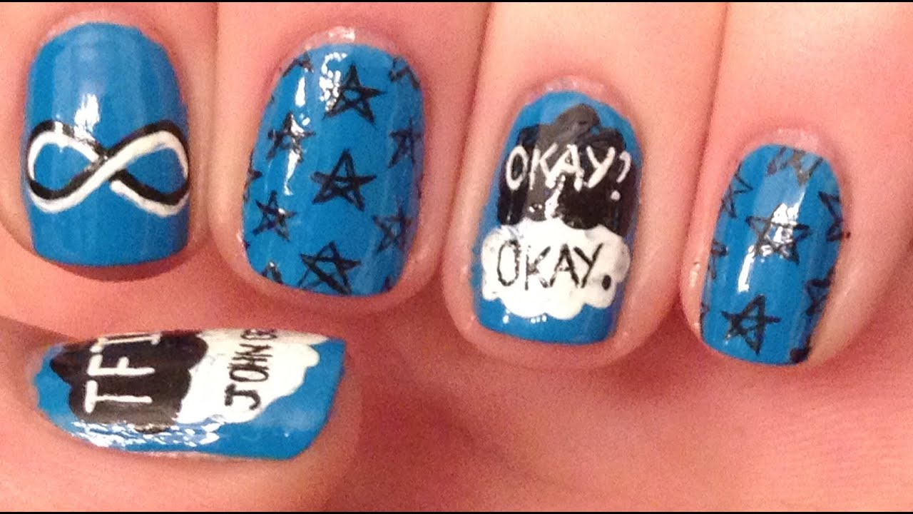 The Fault In Our Stars Nail Art Tutorial Request Youtube