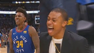 Nick Young Makes Entire Nuggets Crowd GO CRAZY After Scoring First Point In Debut!