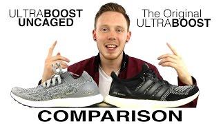 mucho Significado Siempre  ULTRA BOOST UNCAGED VS ULTRA BOOST COMPARISON - YouTube