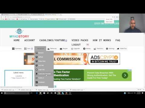 Tutorial Bitcoin School 1 (Youtube Channel Views  with Myadstory )
