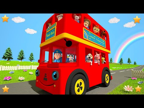 Red Wheels on the Bus | Kindergarten Nursery Rhymes & Songs for Kids by Little Treehouse S03E148