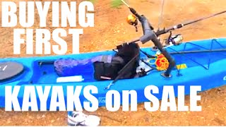 HOW TO BUY YOUR FIRST ON SALE FISHING KAYAK(GET 10% OFF kayak fishing gear, use code 30MILESOUT http://mariner-sails.com http://30milesout.com today ty talks about buying your first fishing kayak. on ..., 2013-06-17T19:04:11.000Z)