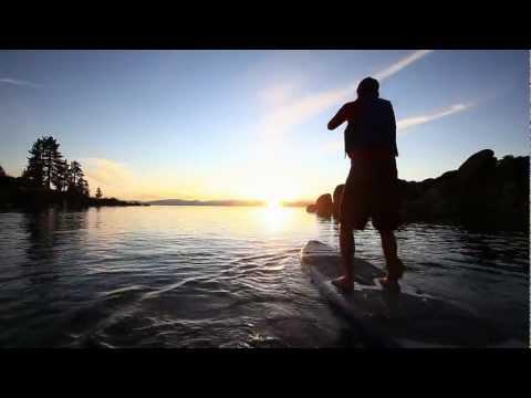 Paddling the Sea Eagle LongBoard SUP in Lake Tahoe