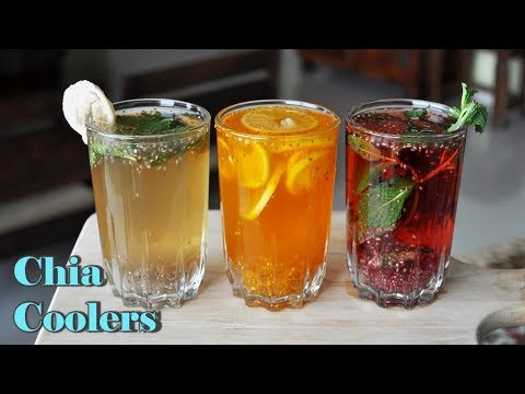How to make Chia Seeds Summer Coolers  Chia Seeds Drinks for summer