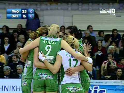 Olympiacos 0  Panathinaikos 3 Women's Volleyball Greek Cup semi for the Syros Final-4