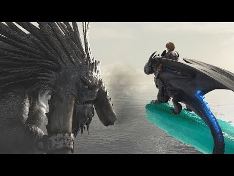 How To Train Your Dragon 2 Toothless Vs Bewilderbeast Fight Scene Hd Youtube