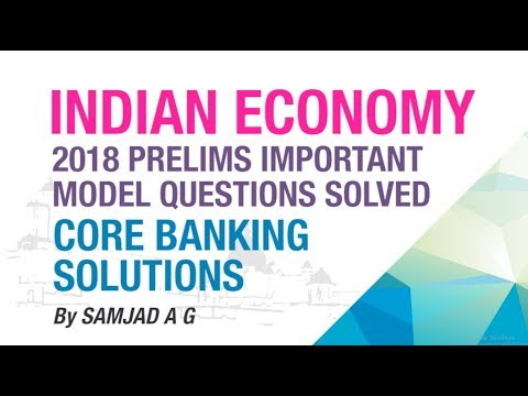 CORE BANKING SOLUTIONS (CBS) | PRELIMS IMPORTANT MODEL QUESTION SOLVED | INDIAN ECONOMY | NEO IAS