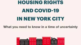 Housing Rights and COVID-19 in New York City