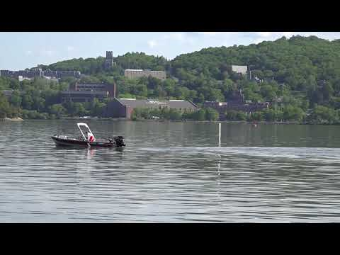 "West Point ""Beat Air Force"" seen across Hudson River 5/23/18"