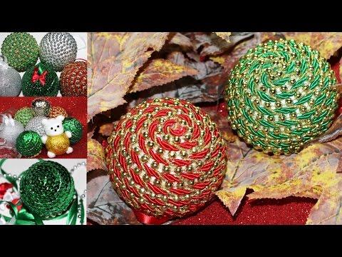 Bolas de Natal Glitter Ursinho Lantejoulas e Corda - ESPECIAL DE NATAL