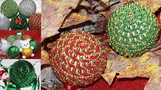 Bolas de Natal Glitter Ursinho Lantejoulas e Corda – ESPECIAL DE NATAL