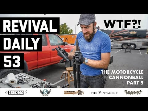 Glacier National Park broke our front end! // Motorcycle Cannonball 2018 // Revival Daily 53
