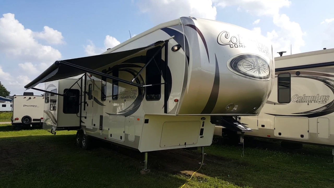 2018 Columbus Compass 377MB 2 Bedroom Luxury 5th Wheel @ Camp Out RV In  Stratford