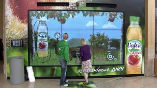 VOLVIC LAUNCH GET JUICED - AN INTERACTIVE BILLBOARD GAME AT BLUEWATER SHOPPING CENTRE
