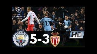 ► Manchester City 5 3 AS Monaco 2017. 720p. english commentary. Darren Fletcher