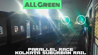 Long Parallel Race Between Two Emu Local Trains- Kolkata Suburban Rail.. screenshot 5