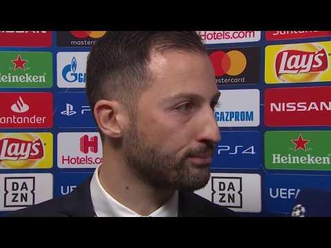 Domenico Tedesco im DAZN Interview nach Schalke vs Manchester City