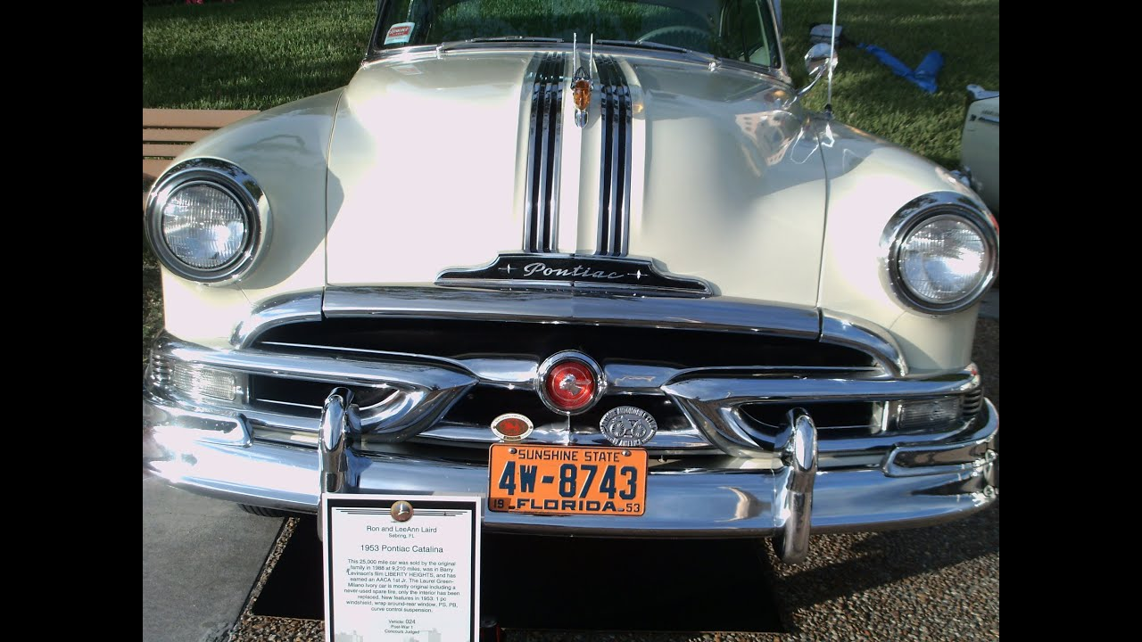 1953 Pontiac Catalina Hardtop GrnIvory LakeMirror102012  YouTube
