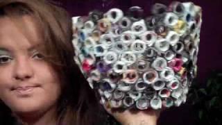 Diy: Magazine Paper Garbage Bin ♡ Theeasydiy #roomdecor