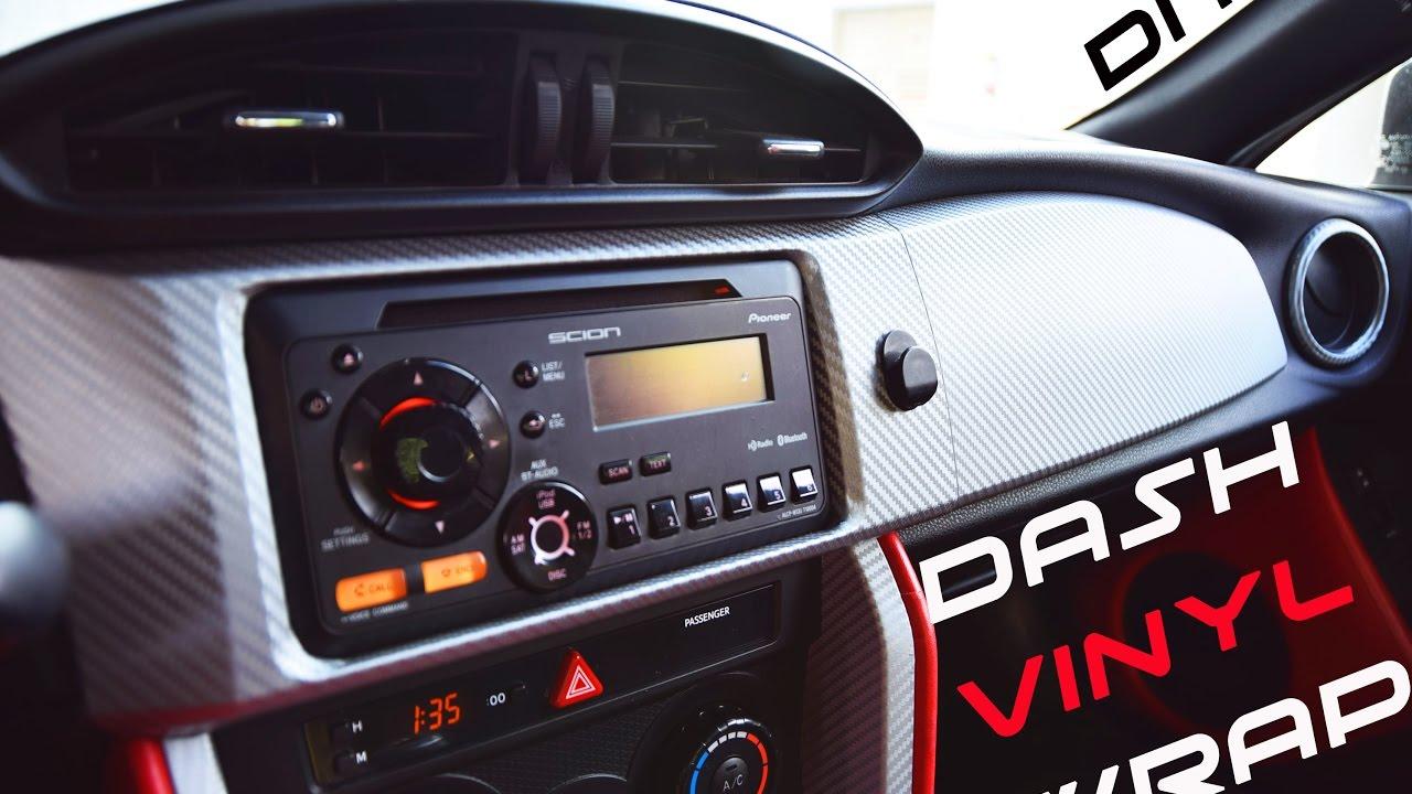 86 Frs Brz Diy Dash Vinyl Wrap Pt 1 Youtube