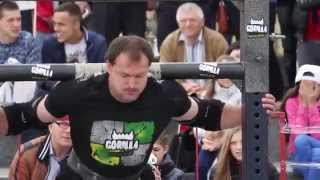 "Strongman: ""Minsk Open Cup-2015"" Эстафета коромысло 380кг + кантовка покрышки 320кг 6 раз"
