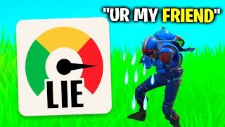 Lie Detector Test On BEST Friend.. (Fortnite)