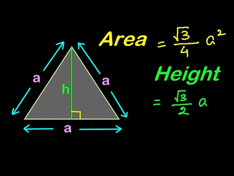 Find Area and Height of an Equilateral Triangle | Mensuration in HINDI | हिंदी