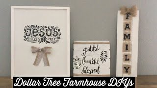 DIY Dollar Tree Signs | Wall Decor| Easy DIYs