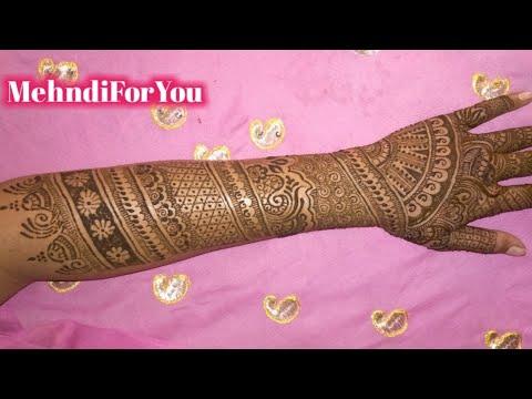 Beautiful Back Hand Mehndi Design Full Hand Mehndi Design Back Side Heena Design Bridal