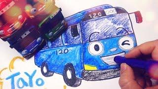꼬마버스 - 타요 그리기  Tayo the Little Bus Drawing [LimeTube]