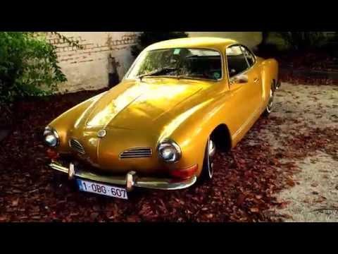 Slammed oldtimer Karmann Ghia Volkswagen '71 - Golden beauty