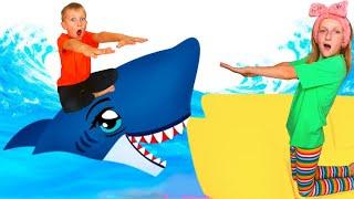 Floor Is Water Pretend play with Tawaki kids