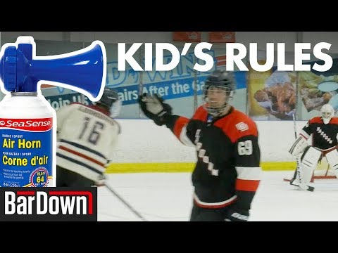 USING KID'S HOCKEY RULES IN ADULT LEAGUE
