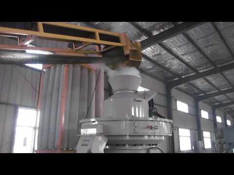XGJ850 2.5-3t/h biomass pellet machine working in China