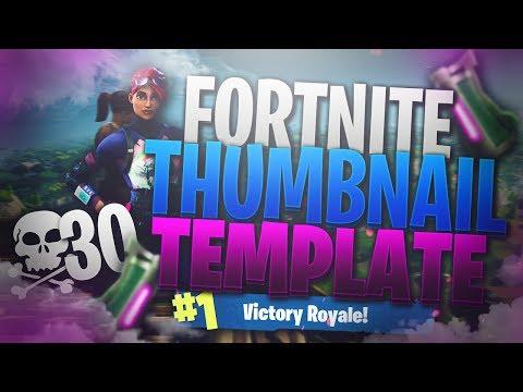 New Free Gfx Fortnite Youtube Thumbnail Template Fortnite