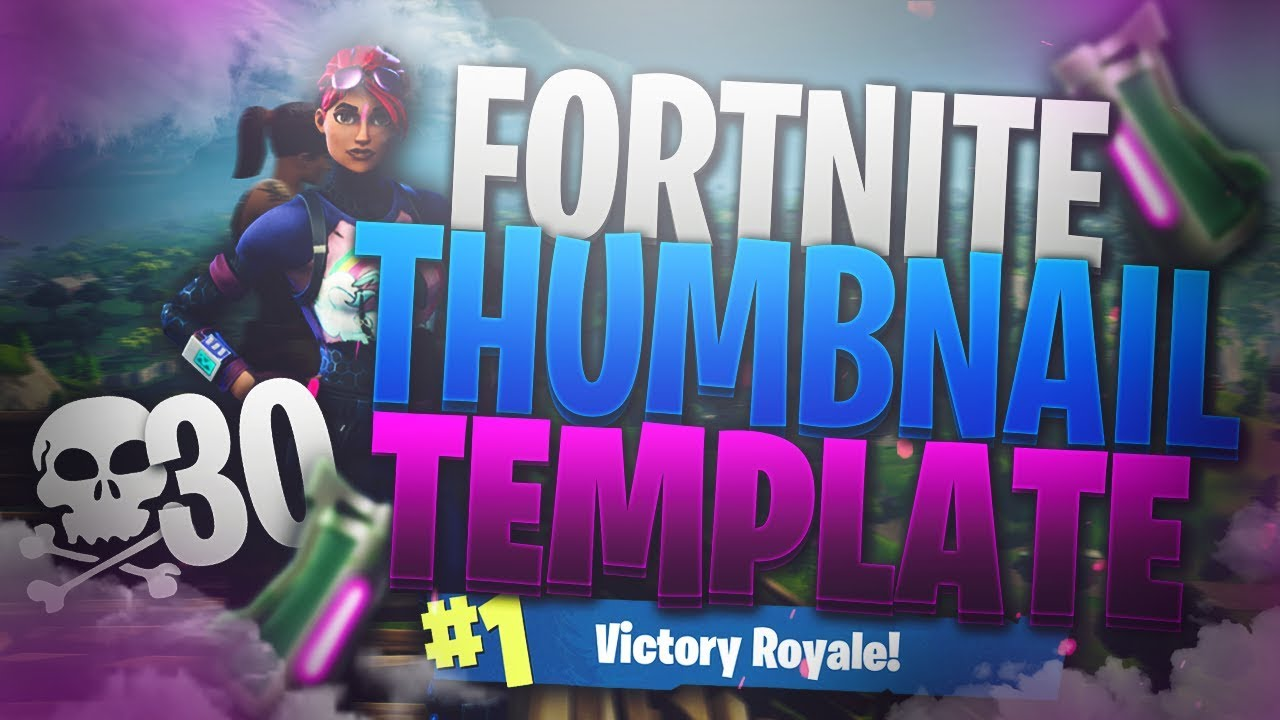 Free Fortnite Thumbnail Template Downl Oad In Description Youtube