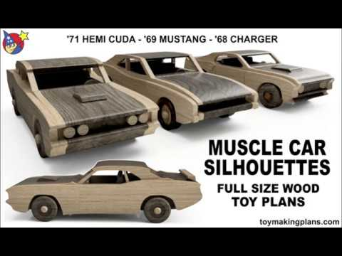 Wood Toy Plans Muscle Car Silhouettes Youtube