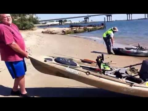 U.G.F.N. Flounder fishing the Absecon Inlet on kayaks, with Frank, Dustin, and Ed.