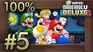 New Super Mario Bros. U Deluxe: 100% Walkthrough (4 Players) - World 5 - All Star Coins
