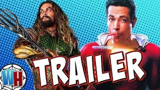 Aquaman and Shazam Official Trailer Breakdown and Things YOU Missed!