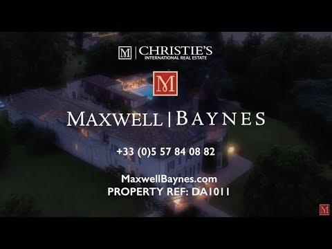 Luxury Chateau property for sale Castillon la Bataille, Dordogne France Maxwell-Baynes : DA1011