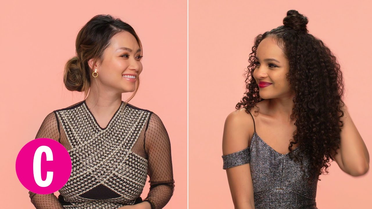 2 Chic Hairstyles for a Night Out   Cosmopolitan + Shea Moisture