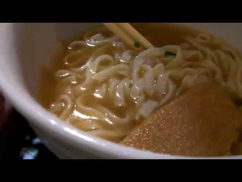 【咀嚼音】どん兵衛をレンジでチンして食べてみた かんたんアレンジ 生麺?Udon【ささやき】