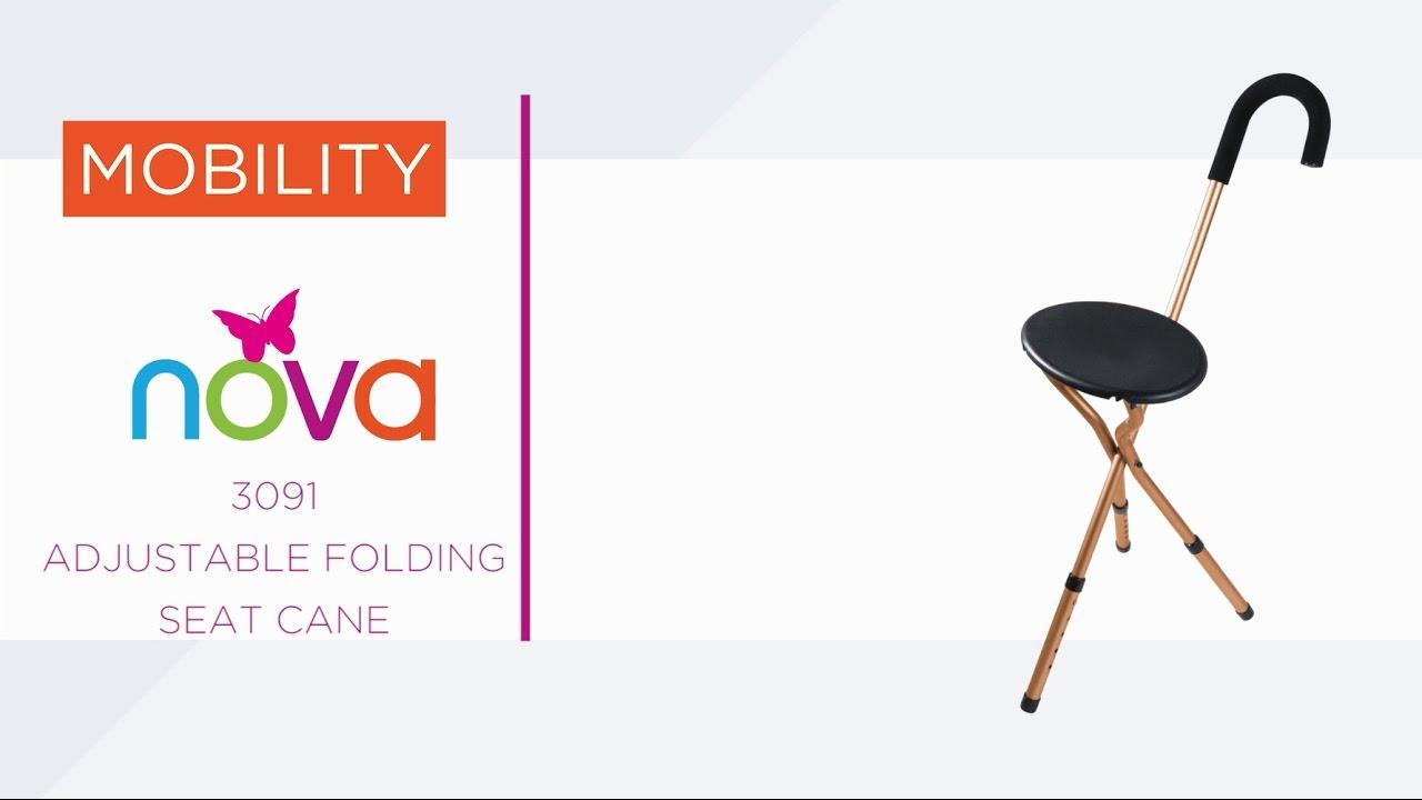 3091 Adjustable Folding Cane Seat