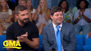 Shia Labeouf and Zack Gottsagen talk the making of 'The Peanut Butter Falcon' l GMA